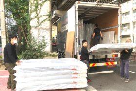 現場でのベット、家具等の搬入設置管理業務